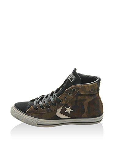 Converse Sneaker Alta Star Player Ev Mid Print Marrone/Verde EU 40
