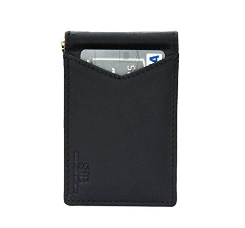 42b29ca2ea7 SERMAN BRANDS - RFID Blocking Leather Money Clip Slim Wallet ...