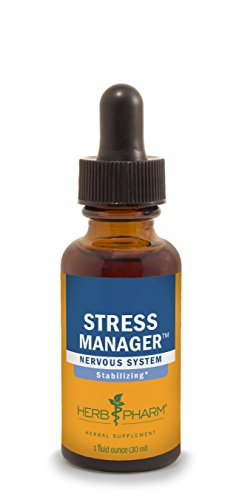 Herb Pharm Stress Manager Herbal Formula with Rhodiola and Holy Basil Extracts - 1 Ounce (Herbs Holy Basil)