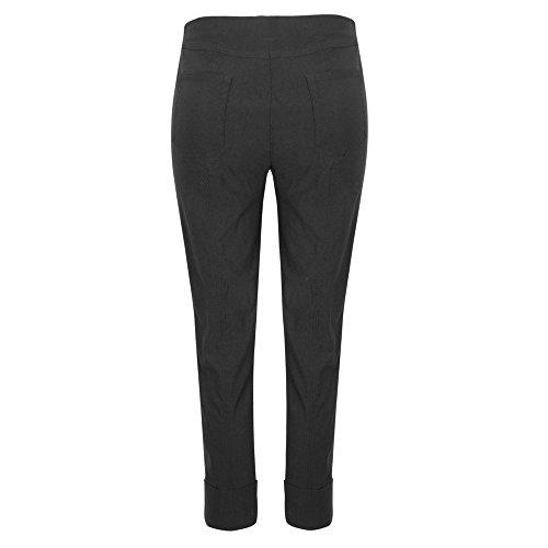 Mujer Para Ajustado Negro Pantalón Robell 4qtwXX