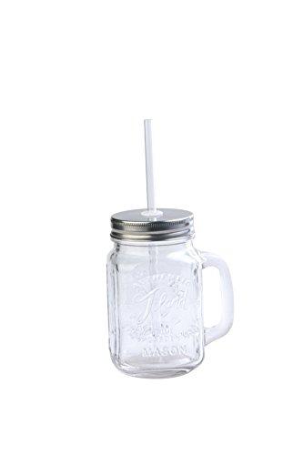 (Toland Home Garden Mason Jar Mug, 1 pint, Clear)