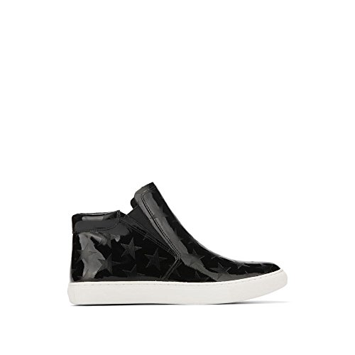 Kenneth Cole New York Women's Kalvin Midtop Pull Sneaker, Black, 9.5 Medium (Kenneth Cole New York Pull)