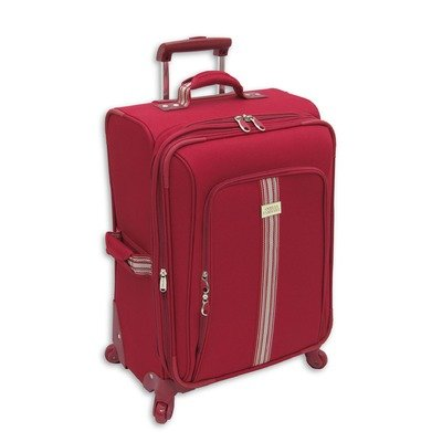 Amelia Earhart Luggage Runway Lites Collection 24″ Expandable 360 Upright, Red, 24-Inch, Bags Central