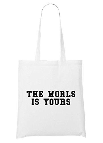 The World Is Yours Bolsa Blanco