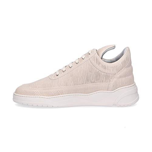 Pieces 1012102b beige pelle in Filling Sneakers Man E4nxqx1fd