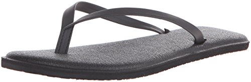 Sanuk Women's Yoga Bliss Flip Flop, Black, 7 M US