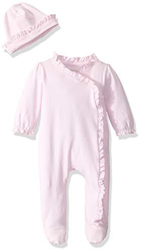 - Mud Pie 2 Piece Long Sleeve Ruffled Onesie Layette Gift Set, Pink