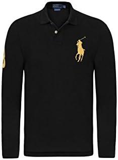 Polo Ralph Lauren-big pony, color negro con logo en color amarillo ...