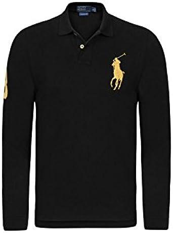 Ralph Lauren Polo Big Pony negro Logo amarillo