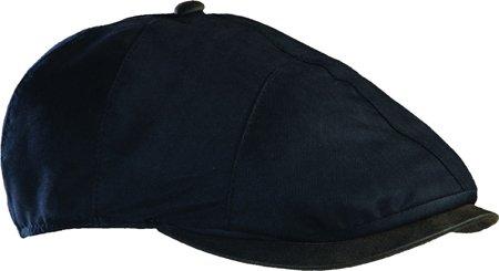 StetsonファッションIvy with Weathered Cottonトリムキャップ帽子 US Men's M (Hat 7-7 1/8, Head 22-22 3/8) ブラック B00FLLSO5G