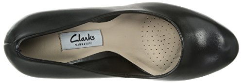 Kendra Noir Leather Escarpins Clarks femme Crisp Black TOxq0BB1w