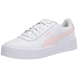 PUMA Women's Carina Sneaker, White-Rosewater-Rosewater, 5.5 M US