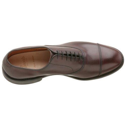 Allen Edmonds Mens Park Avenue Cap Toe Oxford, Merlot, 10,5 D