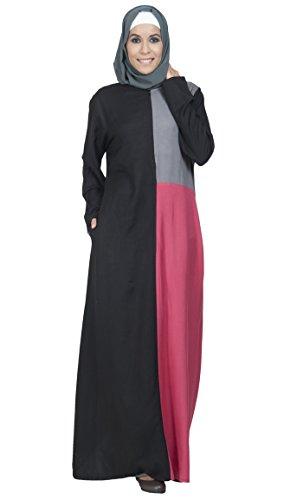 Essence East Black Green Kleid Damen Durchgehend Pink and Mehrfarbig qqwCrdX