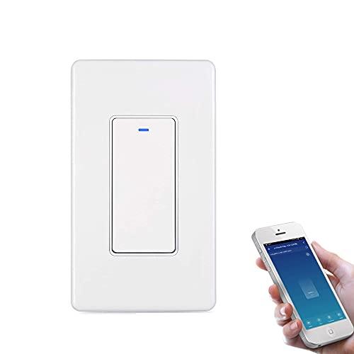 Zigbee WiFi Smart Light Schakelaar 15A 1200W Touch-wandtimer wandschakelaar, afstandsbediening met iOS Android app…