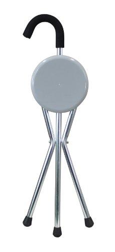 Aidapt Seat Cane Cana con Asiento Plegable, Plateado (Silver/Grey), 850 x 280 x 60 mm, 0.78 kg