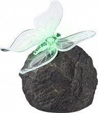 Globo LED Colourchange Outdoor Solar Rock Lamp with Butterfly Lamp