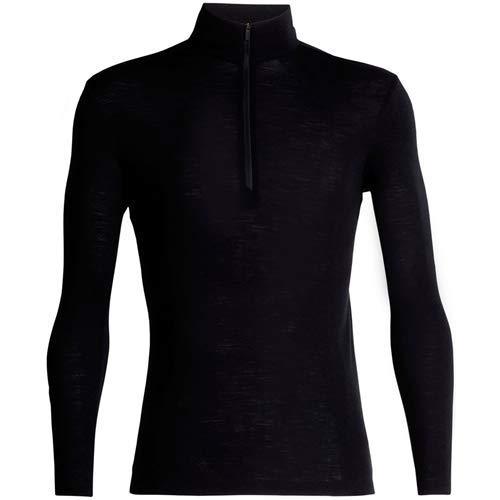 Icebreaker Merino Men's 175 Everyday Long Sleeve Half Zip, Black, XX-Large