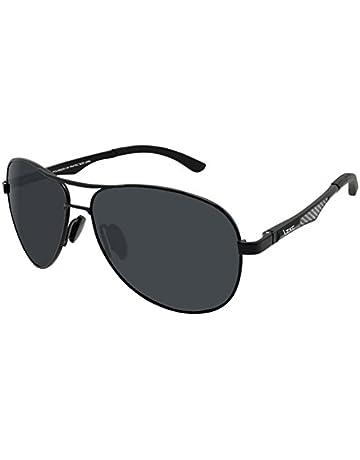ac457016a11 LZXC Polarized Sunglasses for Men Outdoor Sport Eyewear Unbreakable  Ultra-Light Silver Metal Frame HD