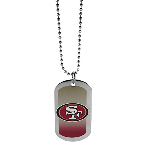 NFL San Francisco 49Ers Team Tag Necklace, Steel, - Tag Dog 49ers