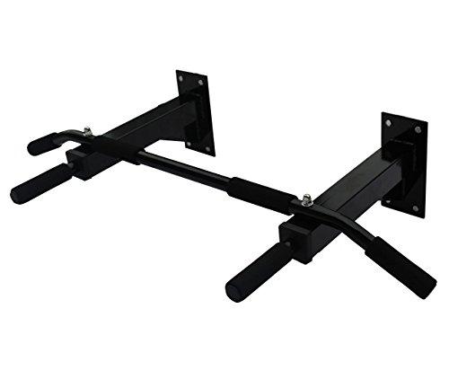 KLB Sport Heavy Duty Wall Mount Pull Up Bar/Chin Up Bar (Black) - Heavy Duty Wall Mount Bar