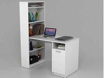 Bureau étagère lexigo avec rangements blanc amazon cuisine
