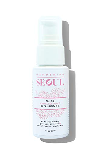 K BEAUTY : Gentle Deep Cleansing Camellia Olive Oil, Melts away makeup with no residue, Non Irritating (Travel size)
