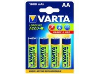 Varta Longlife AA Rechargeable Batteries - 4-Pack
