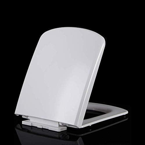 ZYL-YL (:ホワイト、サイズ:43〜45.5 * 36色)肥厚ソフトクローズリリースヒンジトップ付き便座はスクエアトイレ容易なインストールホワイト-43〜45.5 * 36用超耐性WC-席をマウント