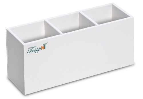 TrippNT 50226 PVC Safety Glasses Holder with Tape, 11 Width x 5 Height x 3 Depth, Three Compartments by TrippNT