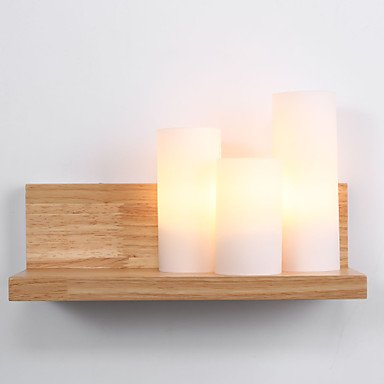 FUSHENG Landhaus Stil Wandlampen Holz Bambus Wandleuchte 110-120V   220-240V 60W