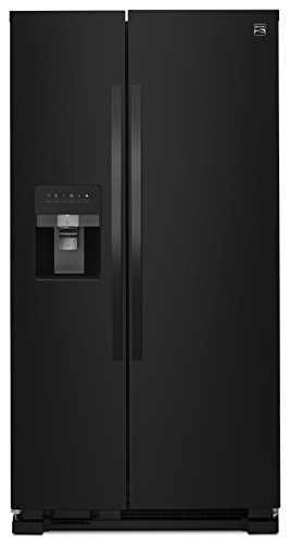 Kenmore 50049 25 cu. ft. Side-by-Side Refrigerator with Ice Maker with Window in Black, includes delivery and...