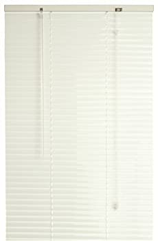 "DESIGNER'S TOUCH LF4548A Mini Blinds, Vinyl, 1"", Alabaster, 45"" x 48"""