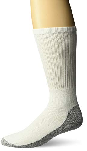 Dickies Men's All- All-Purpose Work Stain Resister Crew Socks (6/12 Packs), White (12 Pair), Shoe Size: 6-12