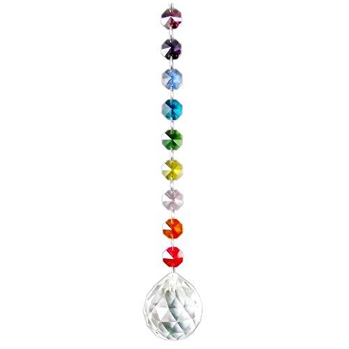 AirSun Crystal Suncatcher 40mm Pendant Sphere, Chakra FengShui Decoration, Rainbow Maker & Window Chandelier Hanging Ornament by AirSun