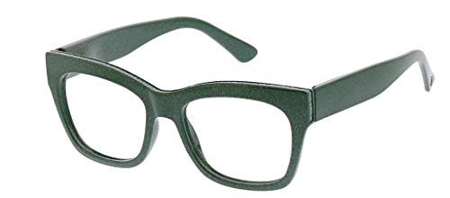Peepers Women's Shine On - Blue Light Filtering Reading Glasses 2547200 Square Reading Glasses, Green, 2