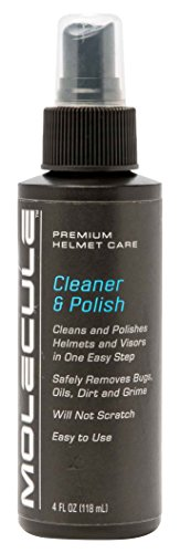 Visor Polish - Molecule MOLMLHCP41 Helmet Cleaner & Polish Spray, 4 fl. oz.