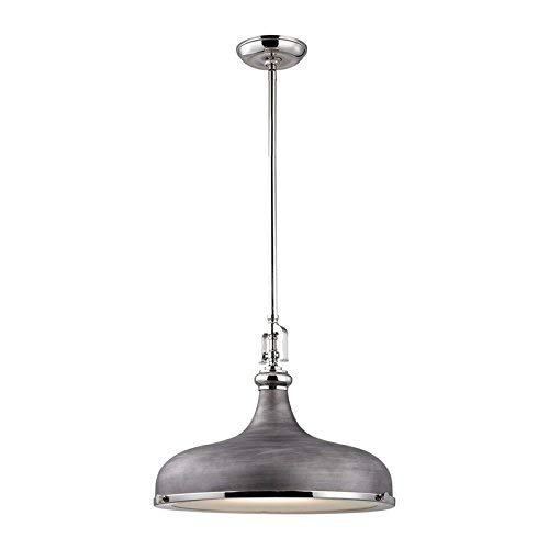 Elk Lighting 57082/1 Ceiling-Pendant-fixtures, Nickel