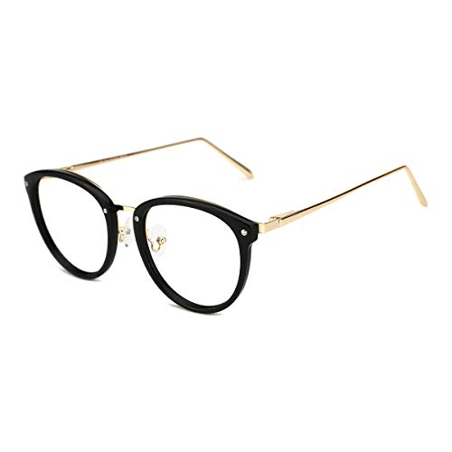 TIJN Vintage Round Metal Optical Eyewear Non-prescription Eyeglasses Frame for ()