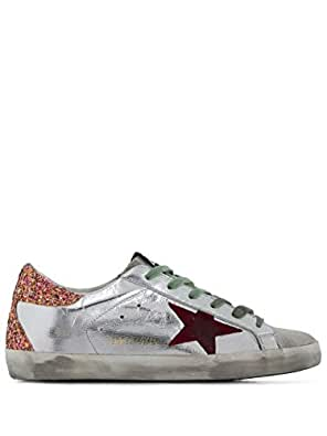 GOLDEN GOOSE Women's G35ws590p12 Silver Leather Sneakers