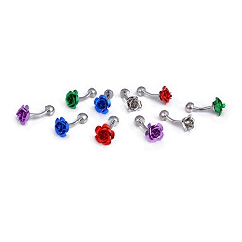 Da.Wa 1 Pair Rose Flower Cuff Links for Mans Women Jewelry Gift for Wedding Anniversaries Birthday Cufflinks by Da.Wa (Image #3)