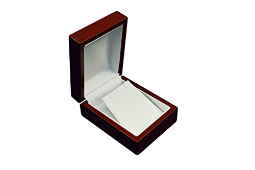 Accessory Jefferson Collection - Regal pak ® one-piece jefferson collection premium rosewood earring /pendant box 3 1/8