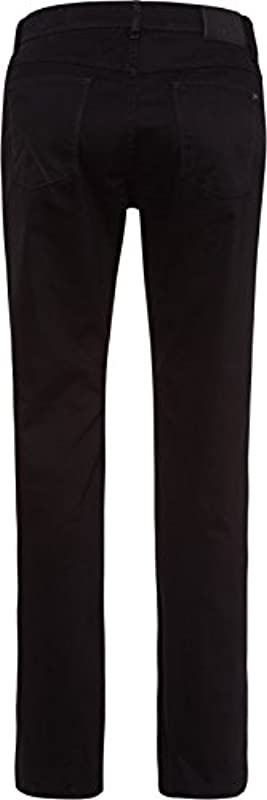 BRAX Męska perma czarny (Nos) Style Cooper Fancy Marathon tkanina płaska: Odzież