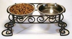 Stainless Steel Scroll Work Double Diner ()