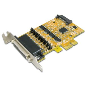 Sunix 4-port RS-232 PCI Express Serial Low Profile Board with Power Output (SATA Power Socket)