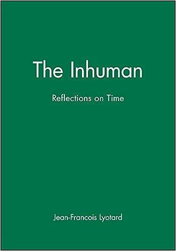 The Inhuman: Reflections on Time: Amazon.co.uk: Lyotard, Jean-Francois:  9780745612386: Books
