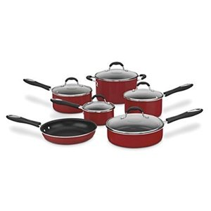 Cuisinart Advantage Ceramica XT 11 Piece Cookware Set Red