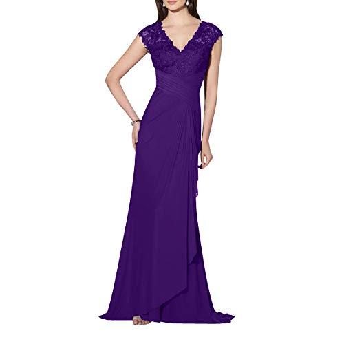 Formalkleider Elegant V lang Regency Standsamt Abendkleider Spitze Kleider Charmant Damen Festlichkleider Ausschnitt Bw1qTg1n