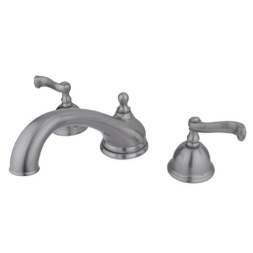 Kingston Brass ES3358FL Vintage Roman Tub Filler with Metal Lever Handle, 8-1/2