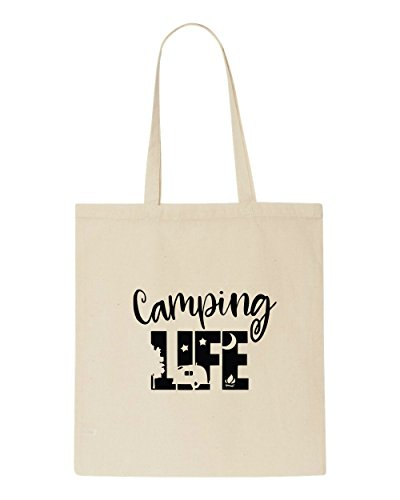 Tote Beige Bag Camping Statement Life Campervan Shopper t64tfYqx